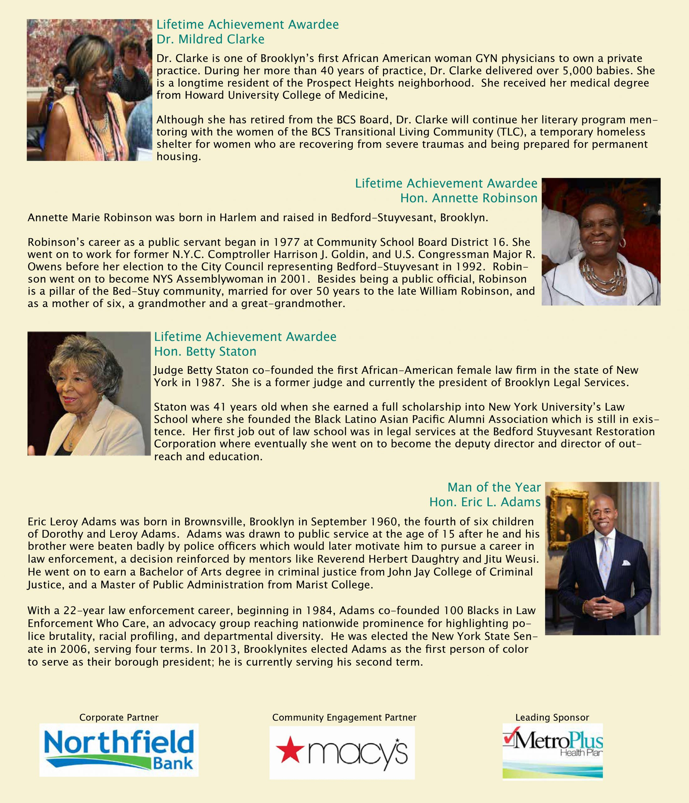 NTAC Gala-Honorees