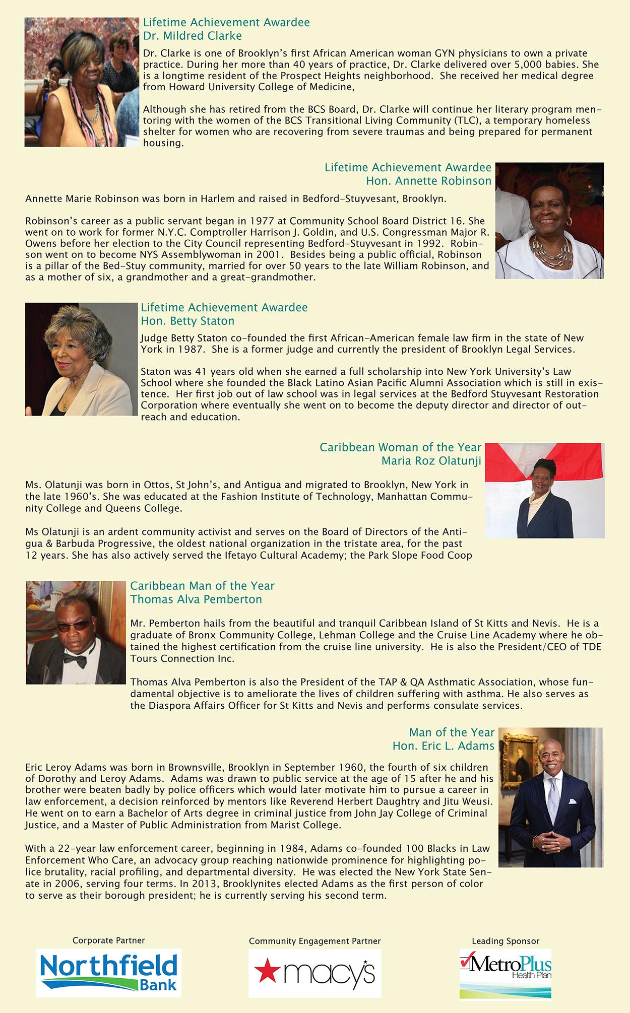 NTAC 2020-2021 Gala Honorees